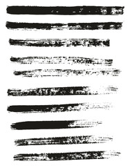 Paint Brush Thin Lines High Detail Abstract Vector Background Set 48