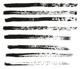 Paint Brush Thin Lines High Detail Abstract Vector Background Set 31