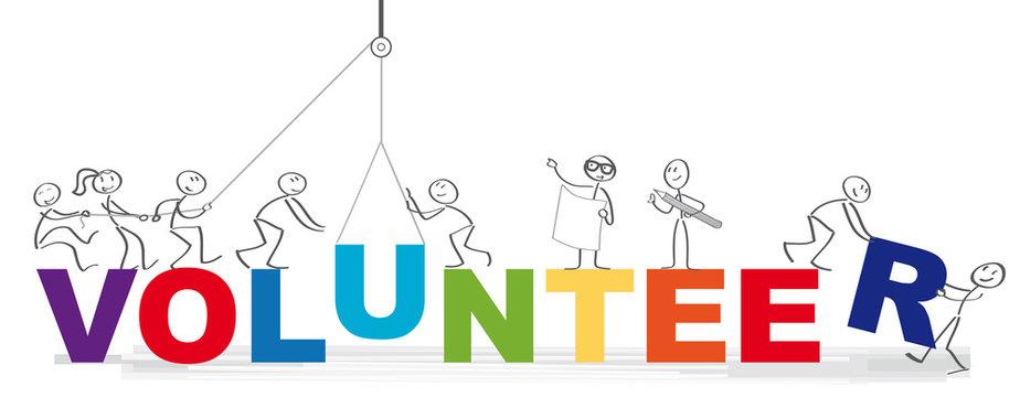 Banner of volunteer vector illustration concept