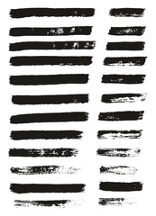 Paint Brush Thin Lines High Detail Abstract Vector Background Set 15