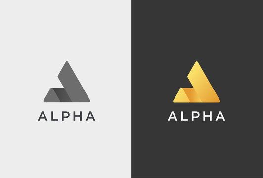 Letter A Logo Icon Design Template.