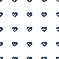 heartbeat icon pattern seamless white background. Editable filled heartbeat icon. heartbeat icon pattern for web and mobile.