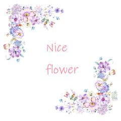 Elegant roses, peony flowers, chrysanthemums, wildflowers, flowers and numbers