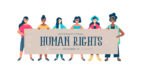 International Human Rights card of diverse women