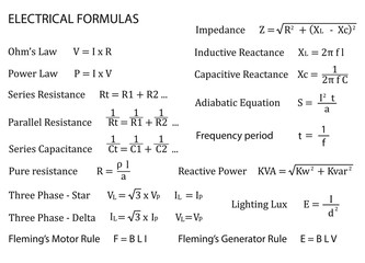 Electrical Formulas