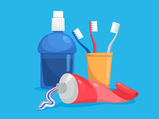 Totthpaste tube and toothbrush for a dental care