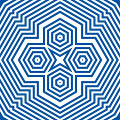 Graphic illustration blue indigo mandala background. Tibetan pattern yoga psychedelic art work. Suitable for background, text and typography.