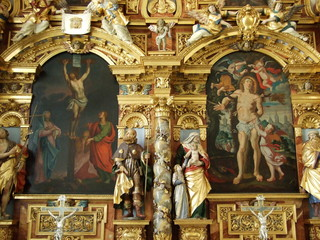 The gold-plated altar and the great Christian church of Konstanz (Federal Republic of Germany)