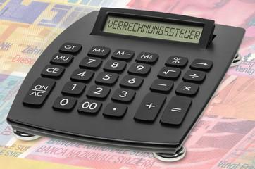 Tischrechner Schweizer Franken Verrechnungssteuer