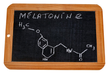 Formule chimique de la mélatonine