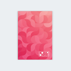 Vertical cover template a4. Wavy abstract design.