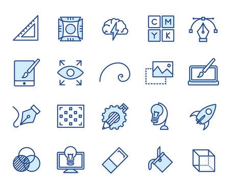 Design und Grafik Vector Icon Illustration Set