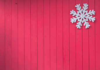 red wooden plank rustic christmas background