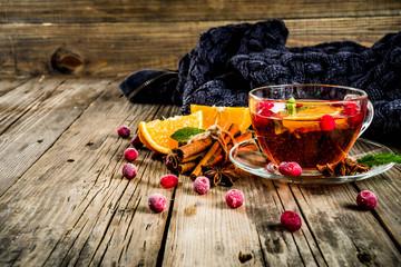 Cranberry spicy tea