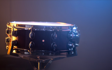 snare drum on beautiful background, close up