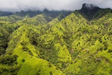 Aeial View over the Garden Island Kauai in Hawaii, USA