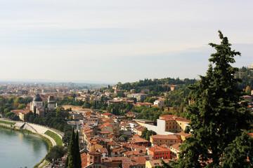 Panorama of the city of Verona, Italy
