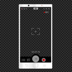 white phone camera vertical viewfinder