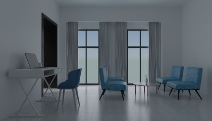 interior design room 3d render