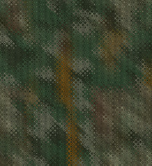 abstract jungle pattern in camouflage optic