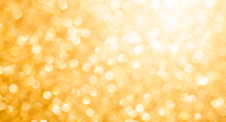 festive golden background bokeh with space for text