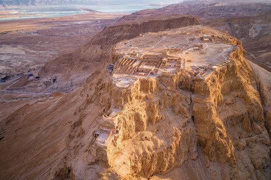 Masada National Park in the Dead Sea region of Israel.