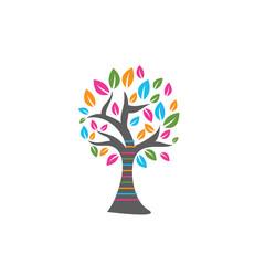 Abstract vibrant tree logo design