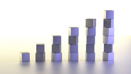 Business Growth Bar Graph Chart