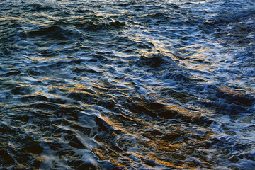 sea water texture on windy day