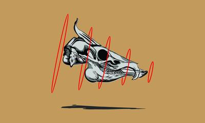 dangerous animal skull