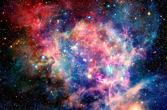 Abstract Multicolored Smooth Bright Nebula Galaxy Artwork Background