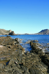 la côte espagnole vers le cap Calabardina