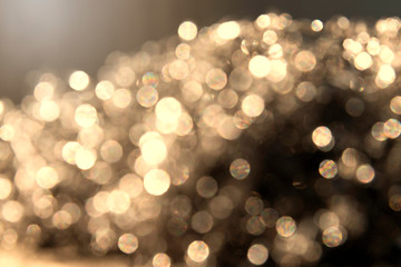Golden Abstract bokeh light effect on background