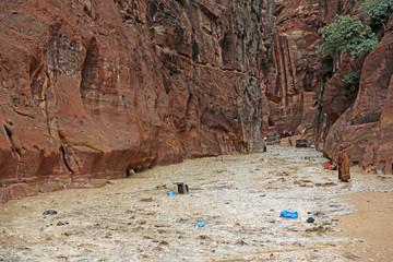 Überflutung der Felsenstadt Petra