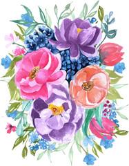 floral arrangement watercolor