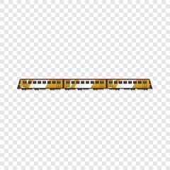 Passenger train icon. Cartoon of passenger train vector icon for web design