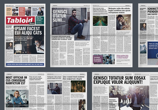 Tabloid Newspaper Layout
