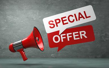 3D Illustration Megaphone special offer