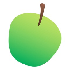 Green apple icon. Isometric of green apple vector icon for web design isolated on white background
