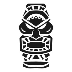 Totem idol icon. Simple illustration of totem idol vector icon for web design isolated on white background