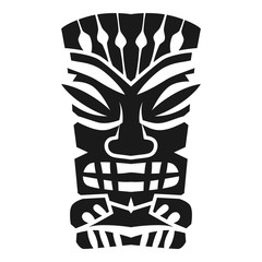 Mystery aztec idol icon. Simple illustration of mystery aztec idol vector icon for web design isolated on white background