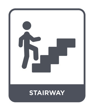 stairway icon vector