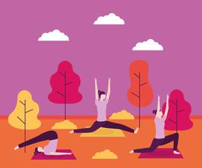 people yoga activitie