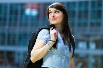 Smiling businesswoman poirtrait