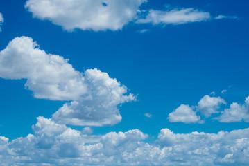 puffy clouds in the sky
