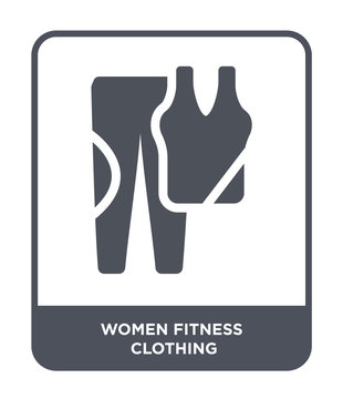 women fitness clothing icon vector