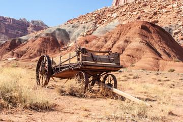Circa 1860 manure spreader used by Mormon farmers near Grafton, Utah Wall mural