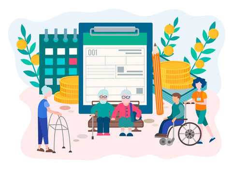 Social Security Disability Claim Concept.