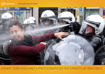 A Picture and its Story: Anger, sore eyes and a photograph on the streets of Brussels
