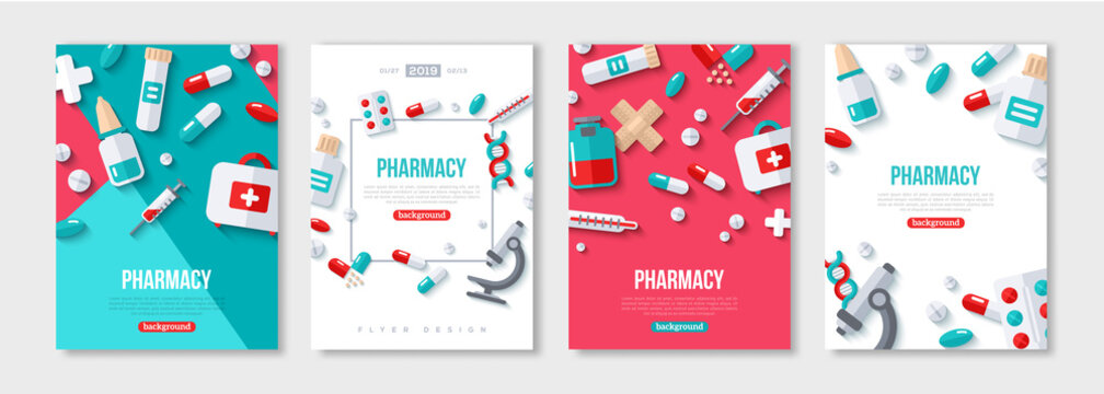 Pharmacy Posters Set